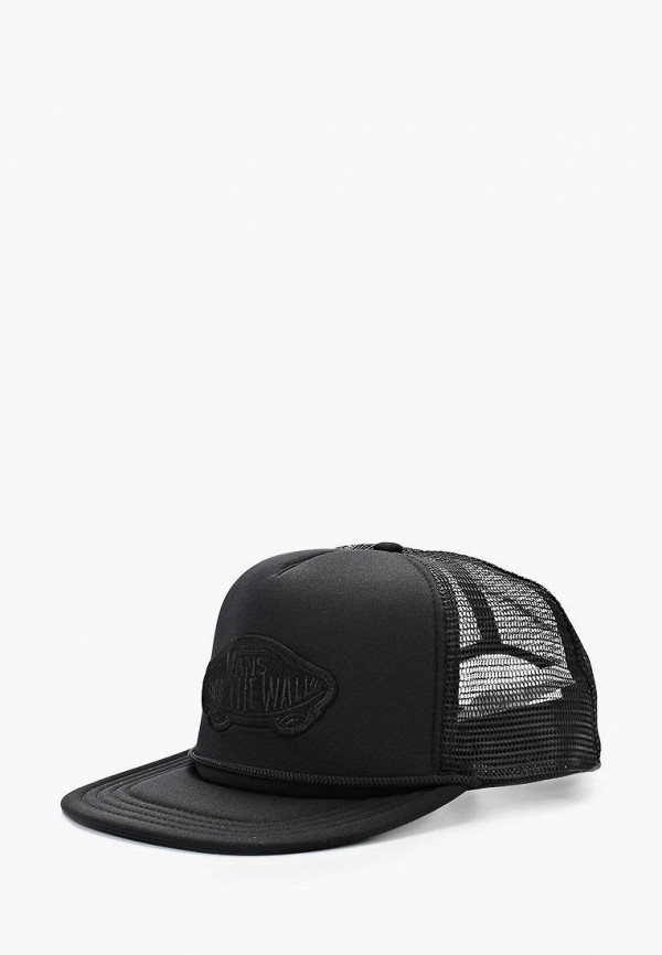 Бейсболка Vans, CLASSIC PATCH, VA984CMAVZ40, черный, Весна-лето 2018  - купить со скидкой