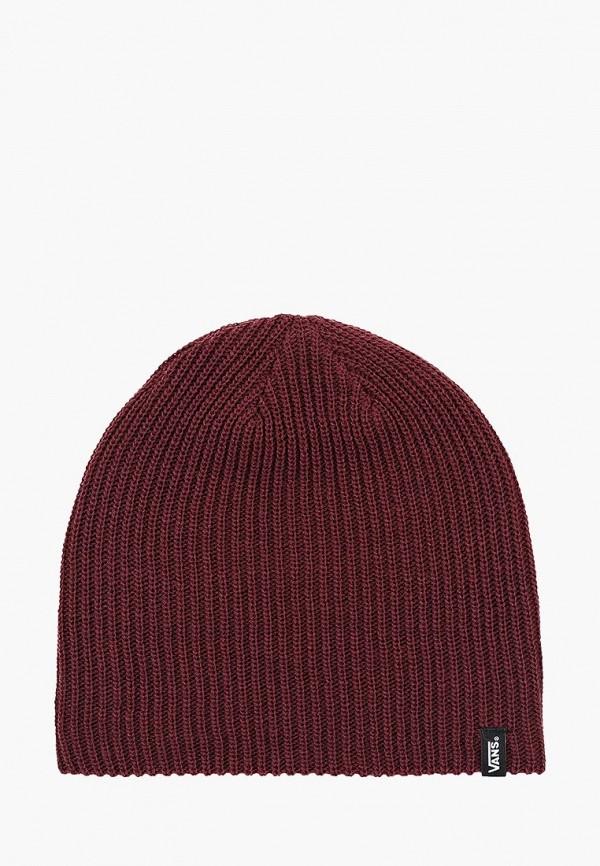 мужская шапка vans, бордовая
