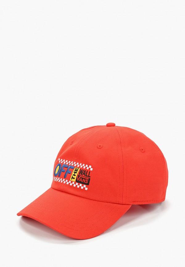 мужская бейсболка vans, красная
