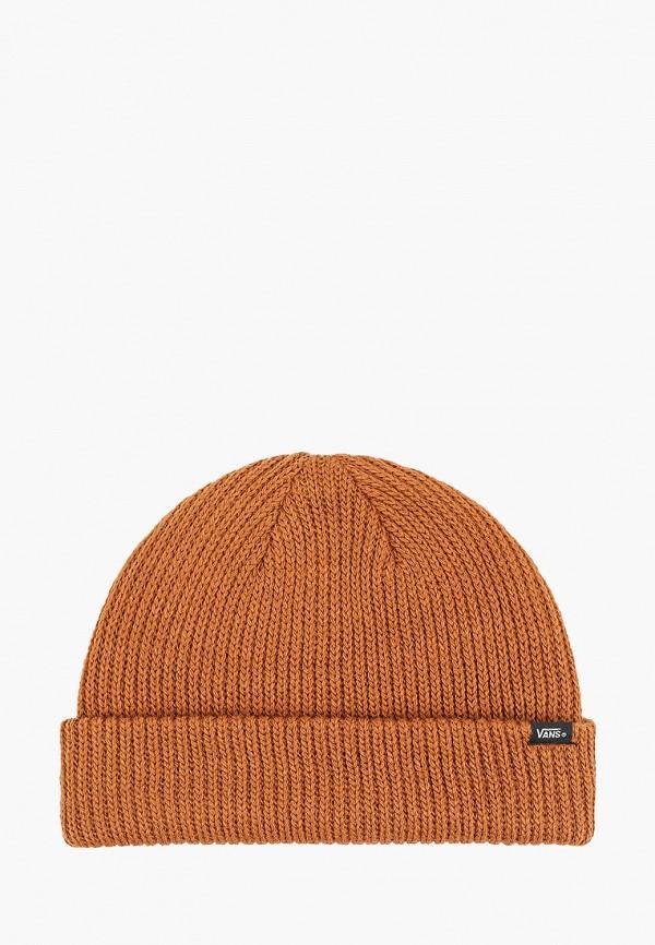 мужская шапка vans, коричневая