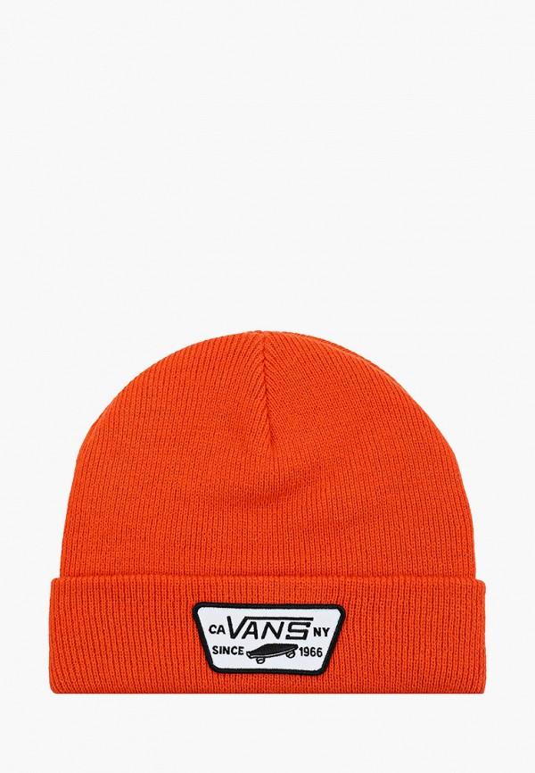 мужская шапка vans, оранжевая