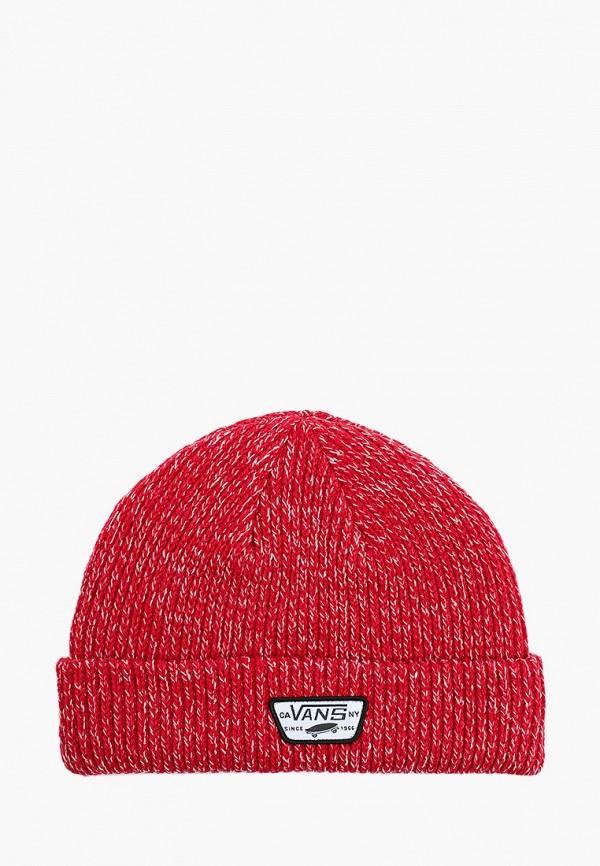 мужская шапка vans, красная