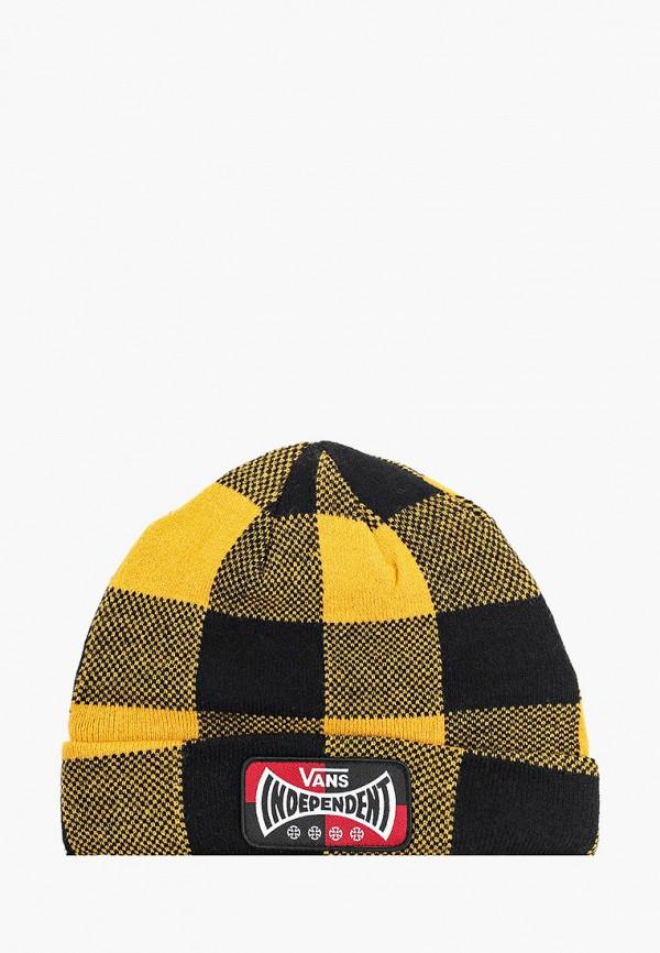 мужская шапка vans, желтая