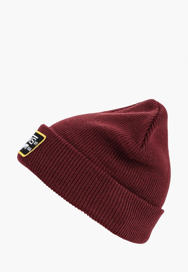 женская шапка vans, бордовая