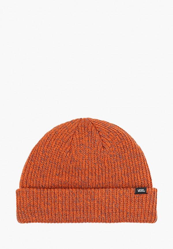 женская шапка vans, оранжевая