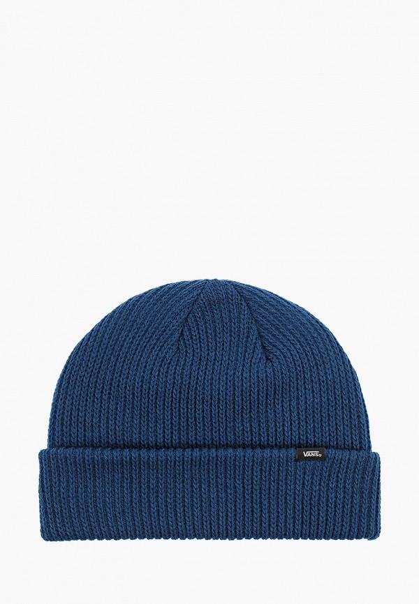 женская шапка vans, синяя