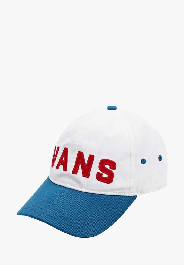 женская бейсболка vans, белая