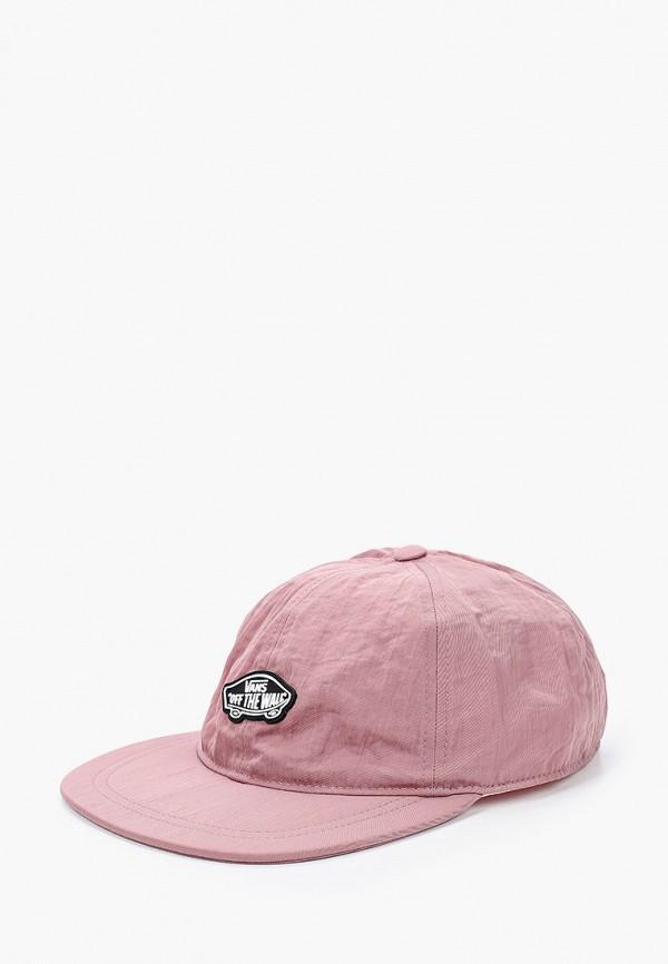 женская бейсболка vans, розовая