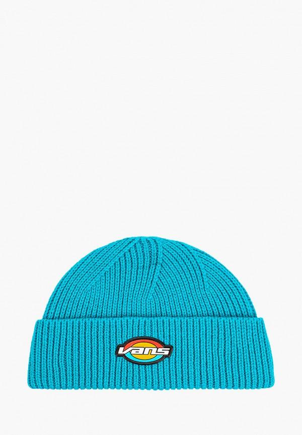 женская шапка vans, бирюзовая