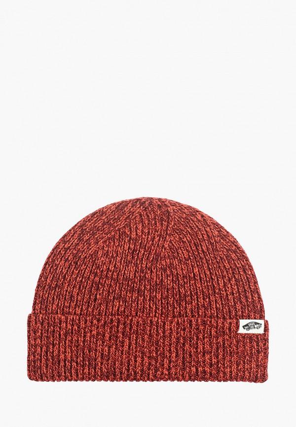 женская шапка vans, красная
