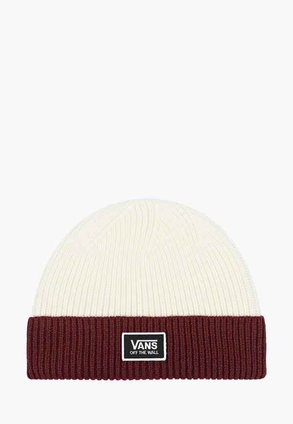 женская шапка vans, белая