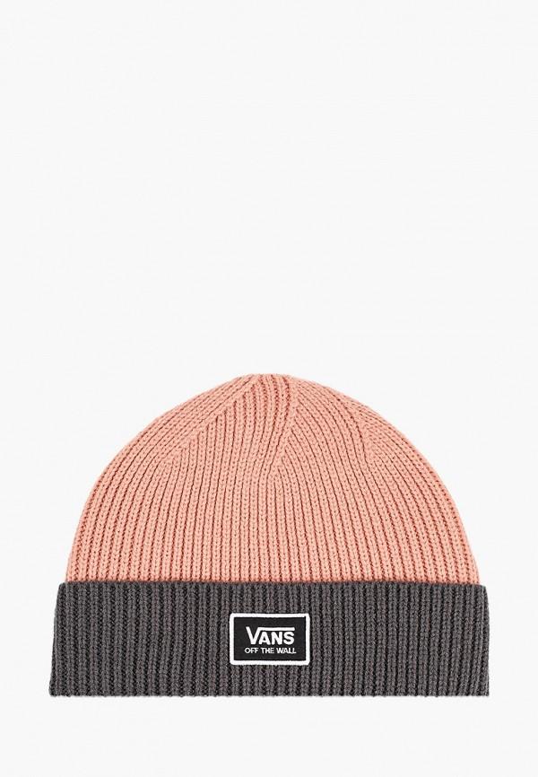женская шапка vans, розовая