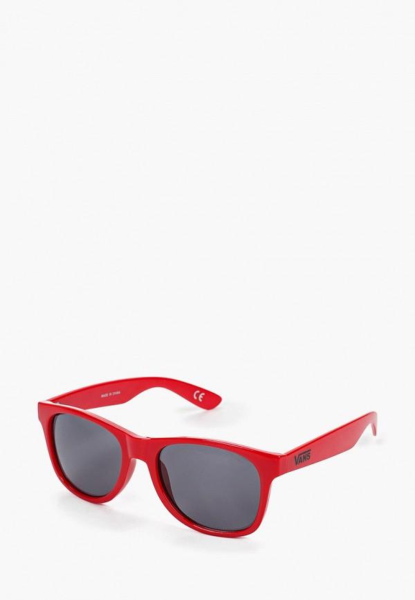 мужские квадратные солнцезащитные очки vans, красные