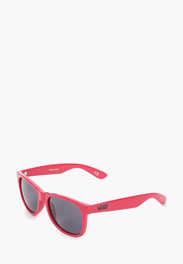 женские квадратные солнцезащитные очки vans, розовые