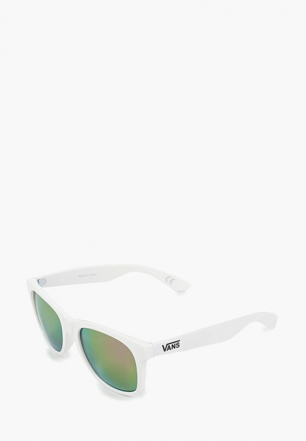 женские квадратные солнцезащитные очки vans, белые