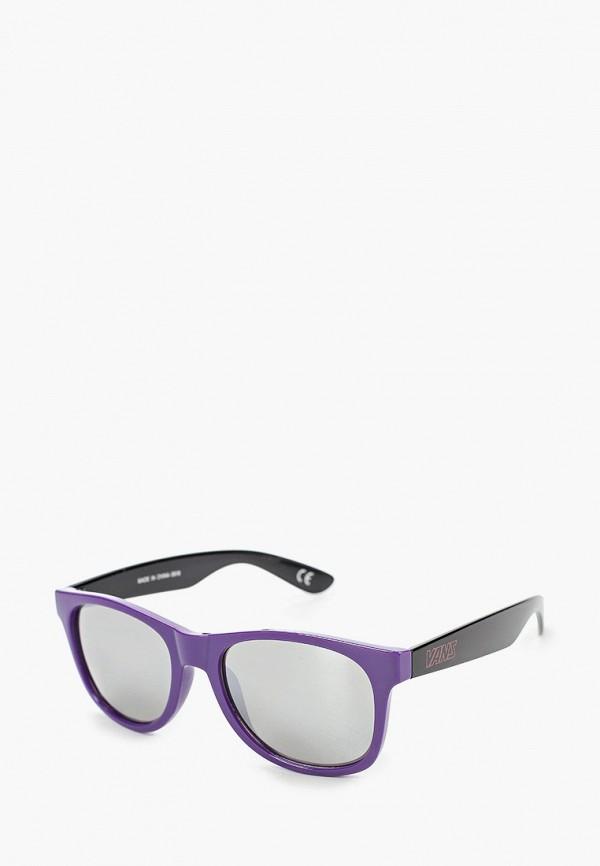 женские квадратные солнцезащитные очки vans, фиолетовые