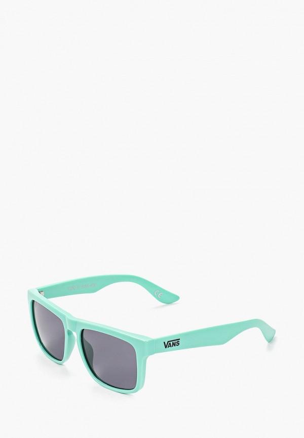 женские квадратные солнцезащитные очки vans, голубые