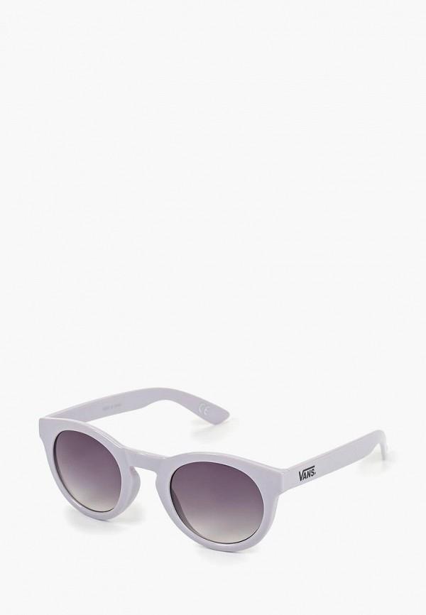 женские круглые солнцезащитные очки vans, фиолетовые