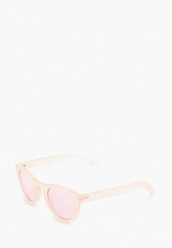 женские круглые солнцезащитные очки vans, белые