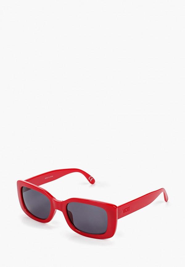 женские солнцезащитные очки vans, красные
