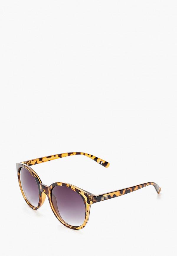 женские круглые солнцезащитные очки vans, коричневые