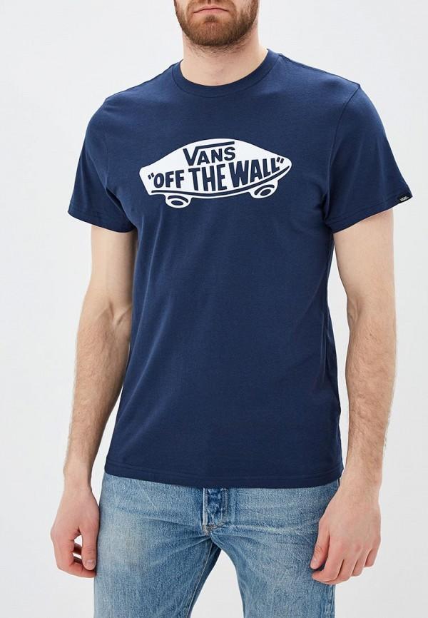 мужская спортивные футболка vans, синяя