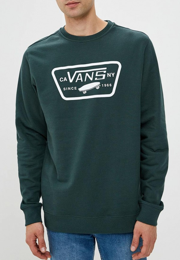 Купить Свитшот Vans, VA984EMCAKE0, зеленый, Осень-зима 2018/2019