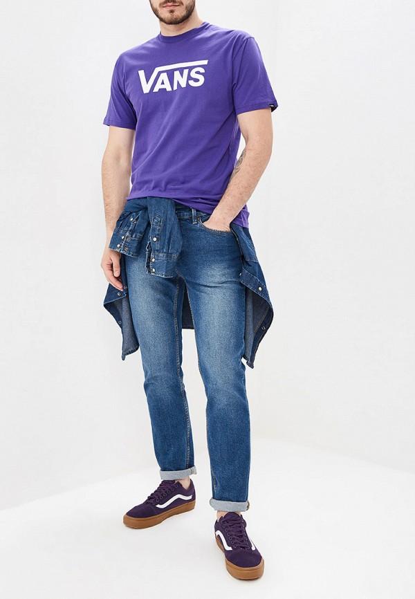 Фото 2 - мужскую футболку Vans фиолетового цвета