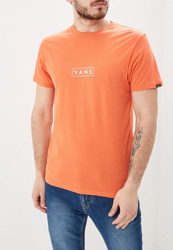 Фото - Футболку спортивная Vans оранжевого цвета