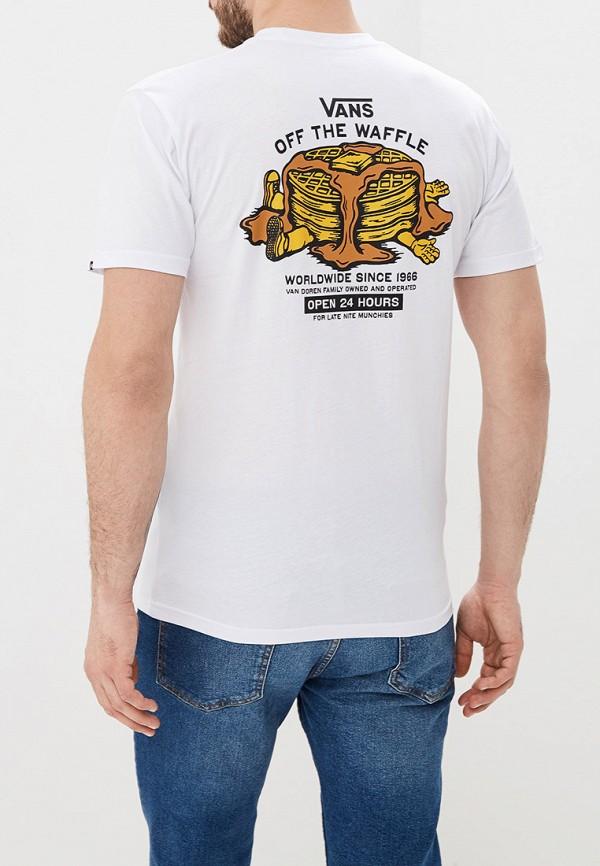 Фото 3 - мужскую футболку Vans белого цвета
