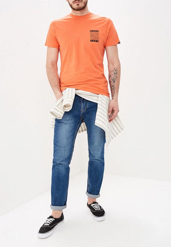Фото 2 - мужскую футболку Vans оранжевого цвета