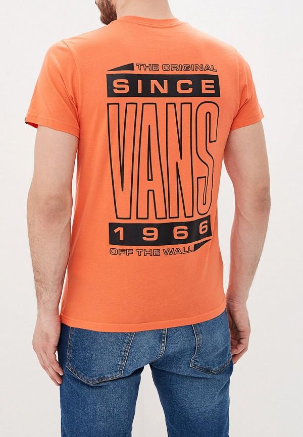 Фото 3 - мужскую футболку Vans оранжевого цвета