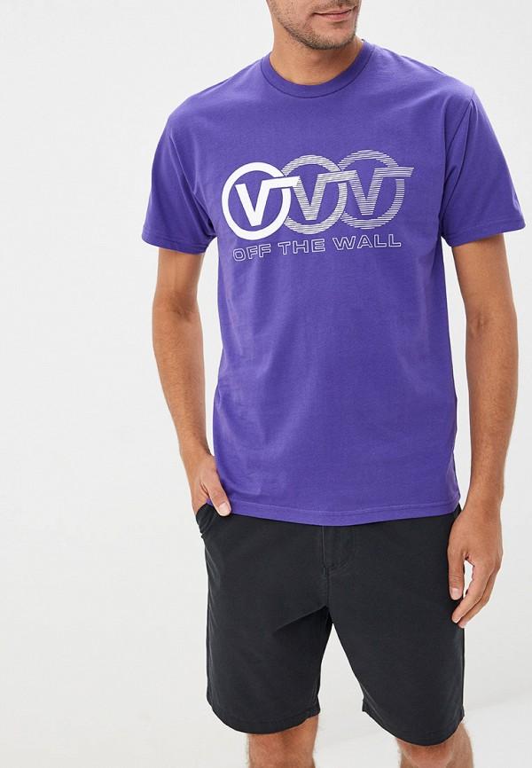 мужская спортивные футболка vans, фиолетовая