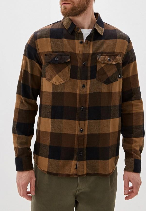 мужская спортивные рубашка vans, коричневая