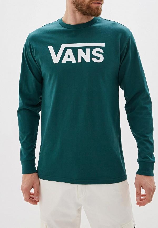 мужской лонгслив vans, зеленый