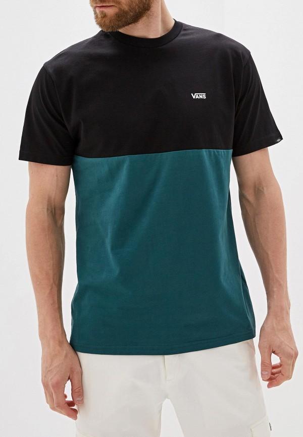мужская спортивные футболка vans, разноцветная