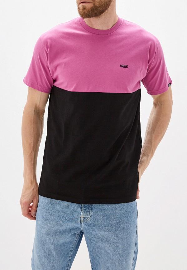 мужская спортивные футболка vans, розовая
