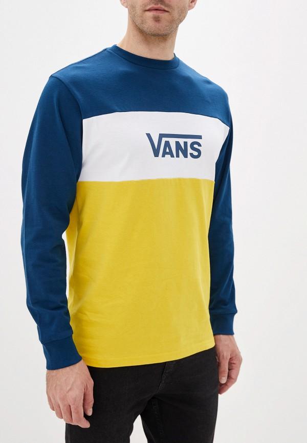 мужской лонгслив vans, разноцветный