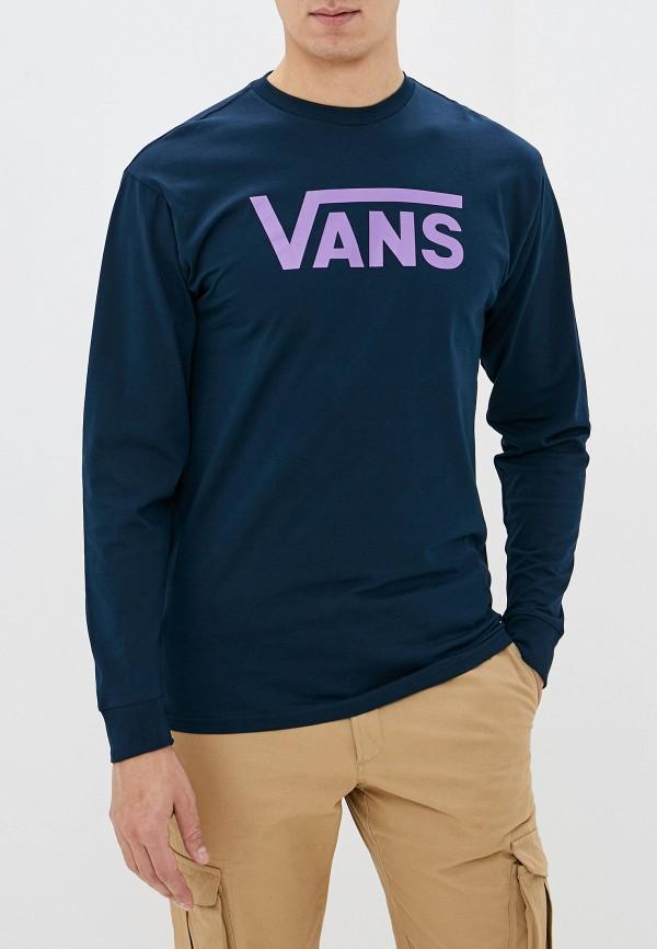 мужской лонгслив vans, синий