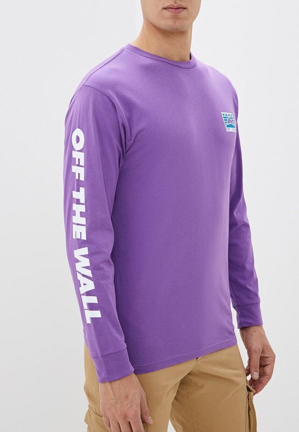 мужской лонгслив vans, фиолетовый