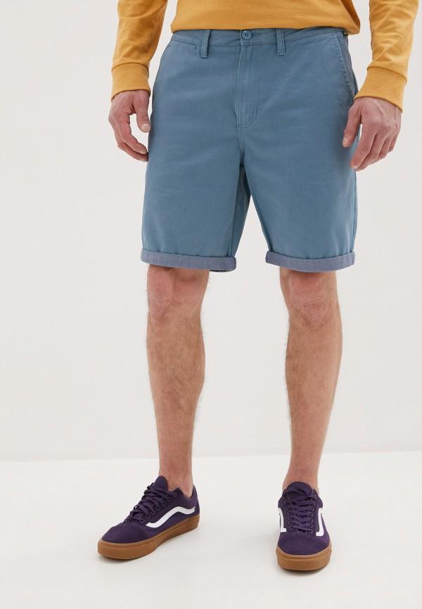 мужские повседневные шорты vans, голубые