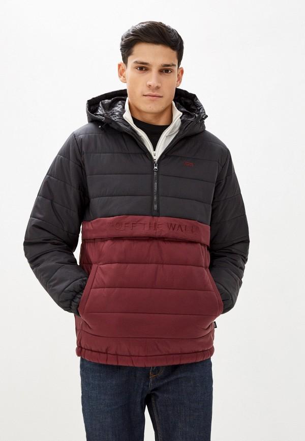 мужская куртка vans, бордовая