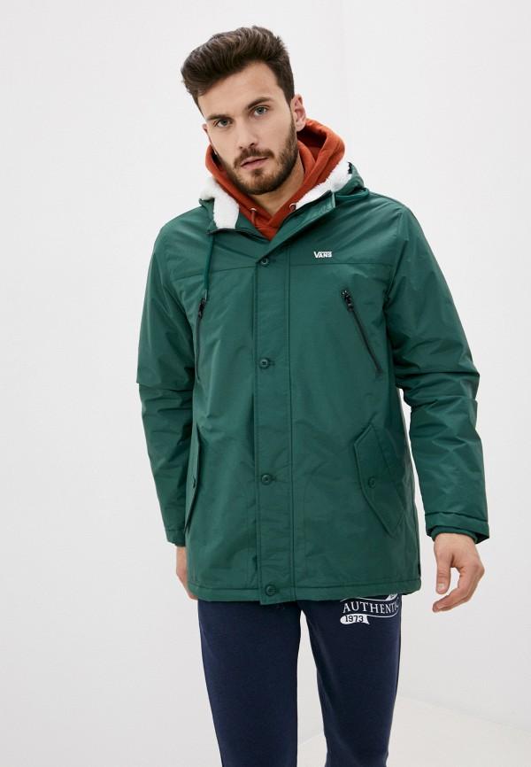 мужская спортивные куртка vans, зеленая