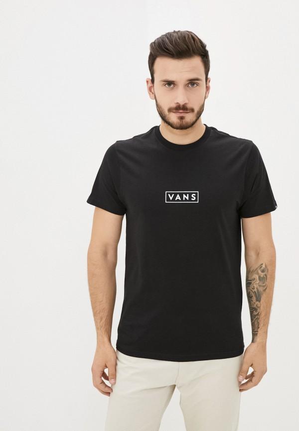 мужская спортивные футболка vans, черная