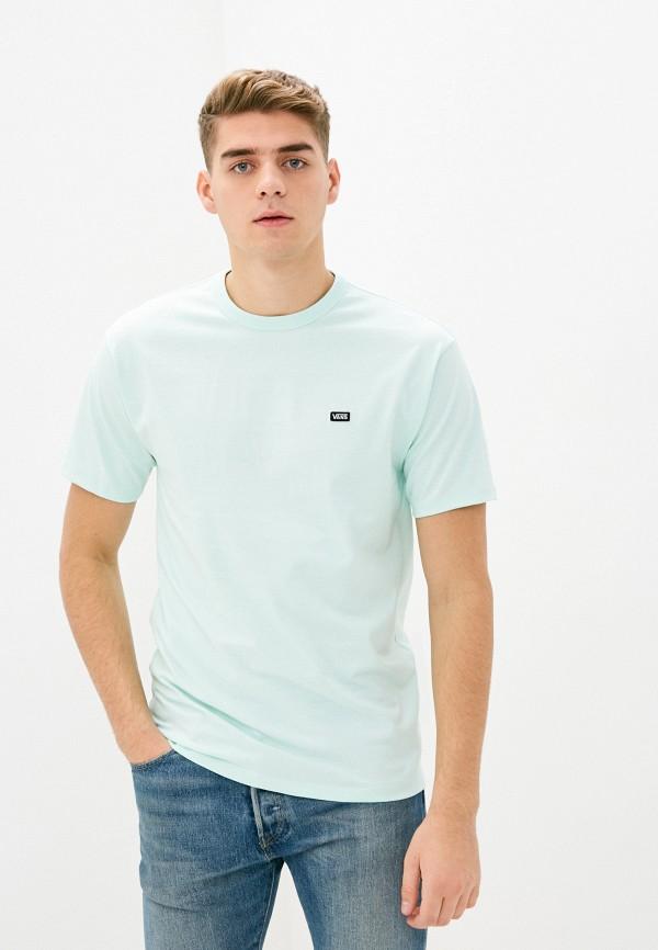 мужская спортивные футболка vans, бирюзовая