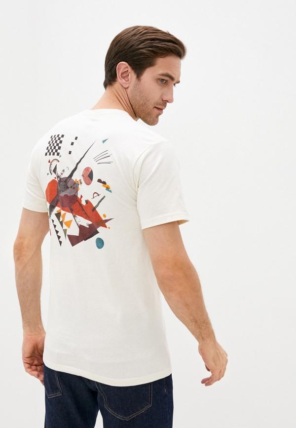 мужская спортивные футболка vans, бежевая