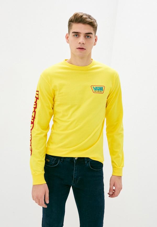 мужской лонгслив vans, желтый