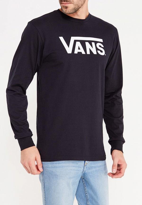 мужской лонгслив vans, черный