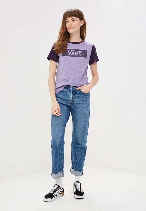 Фото 2 - женскую футболку Vans фиолетового цвета