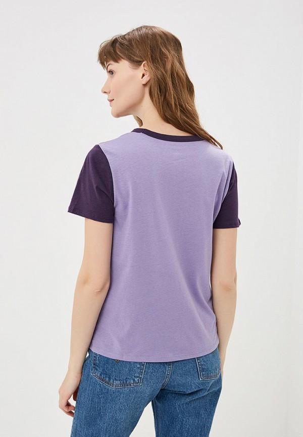 Фото 3 - женскую футболку Vans фиолетового цвета